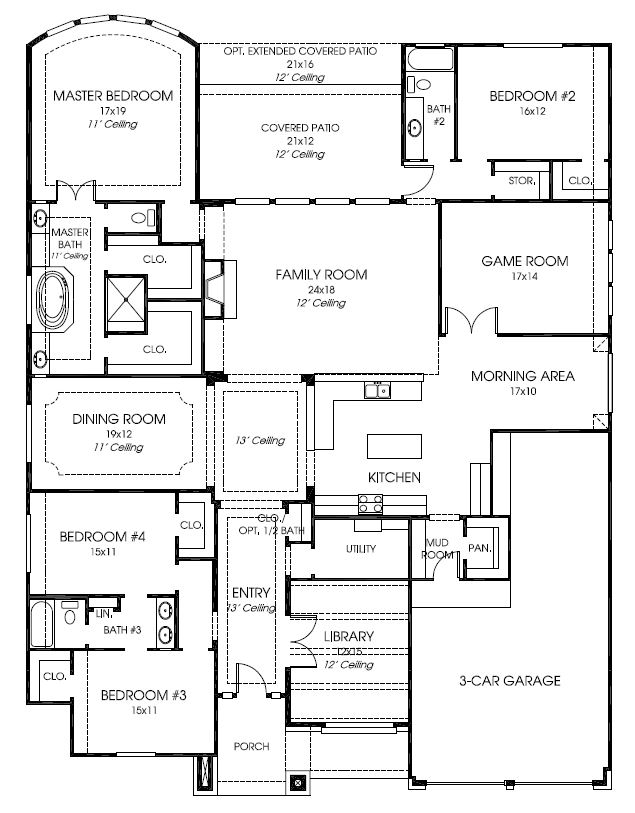 Design 3435 by Perry Homes Floorplan