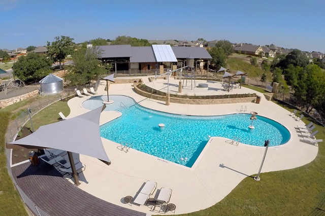 The Sienna House & Pool | Rancho Sienna community Georgetown, TX