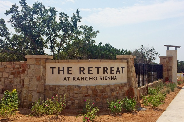The Retreat at Rancho Sienna community Georgetown, TX