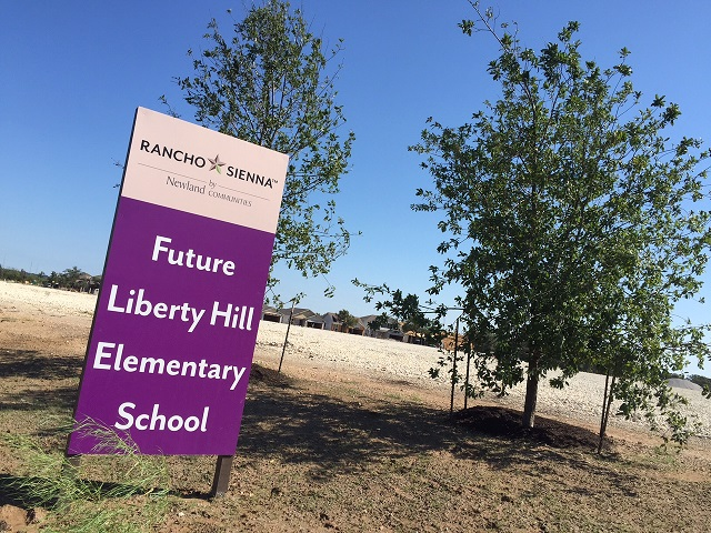 Future Liberty Hill Elementary School at Rancho Sienna