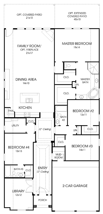 Perry Homes' 2529S floor plan