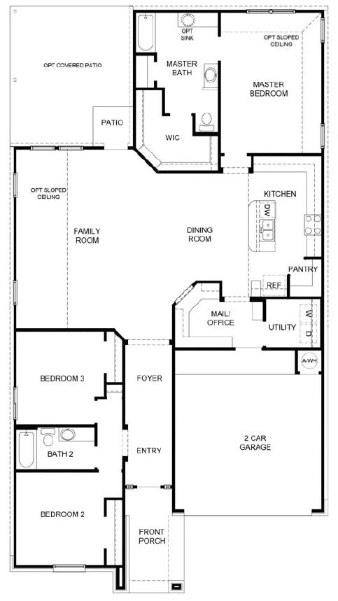 The Bernhardt floor plan