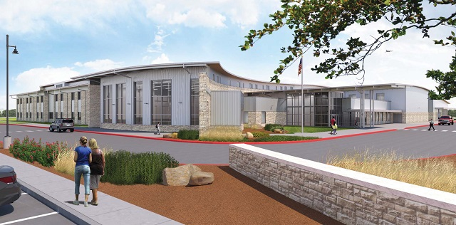 The Hill Country exterior of the new Rancho Sienna Elementary