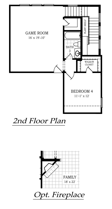 The Owen 2nd floor plan and options