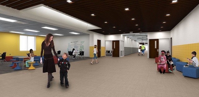 A rendering of the collaboration space mentioned above