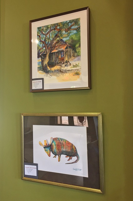 Witt's artwork on display and for sale at The Sienna House