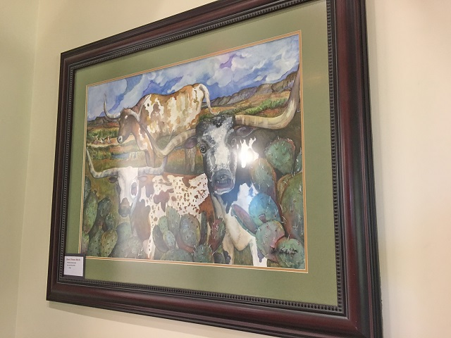 Witt's art is on display (and for sale) at The Sienna House