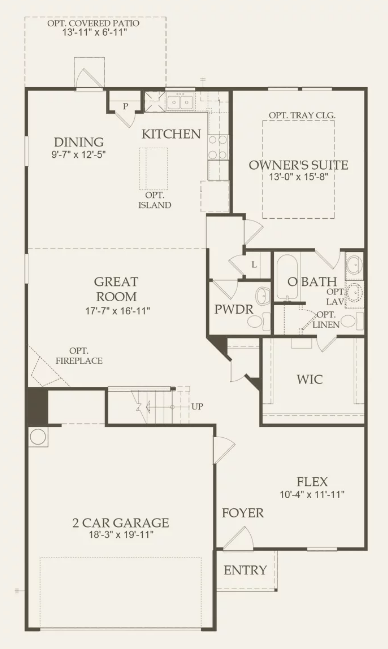 The Granville First Floor Plan