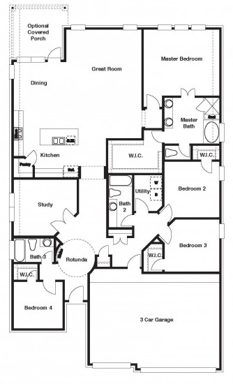 The Frisco floor plan
