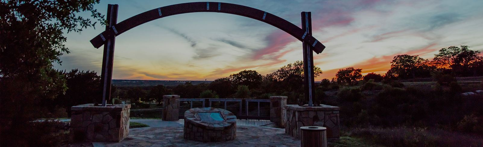 Rancho Sienna Park trailhead at sunset