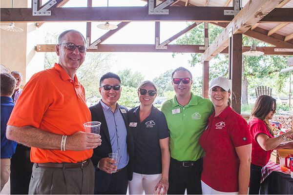 Rancho Sienna Realtors at Crawfish Boil hosted by the Austin Homebuilders Association