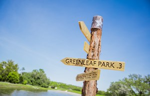 Rancho Sienna Greenleaf Park Sign Post