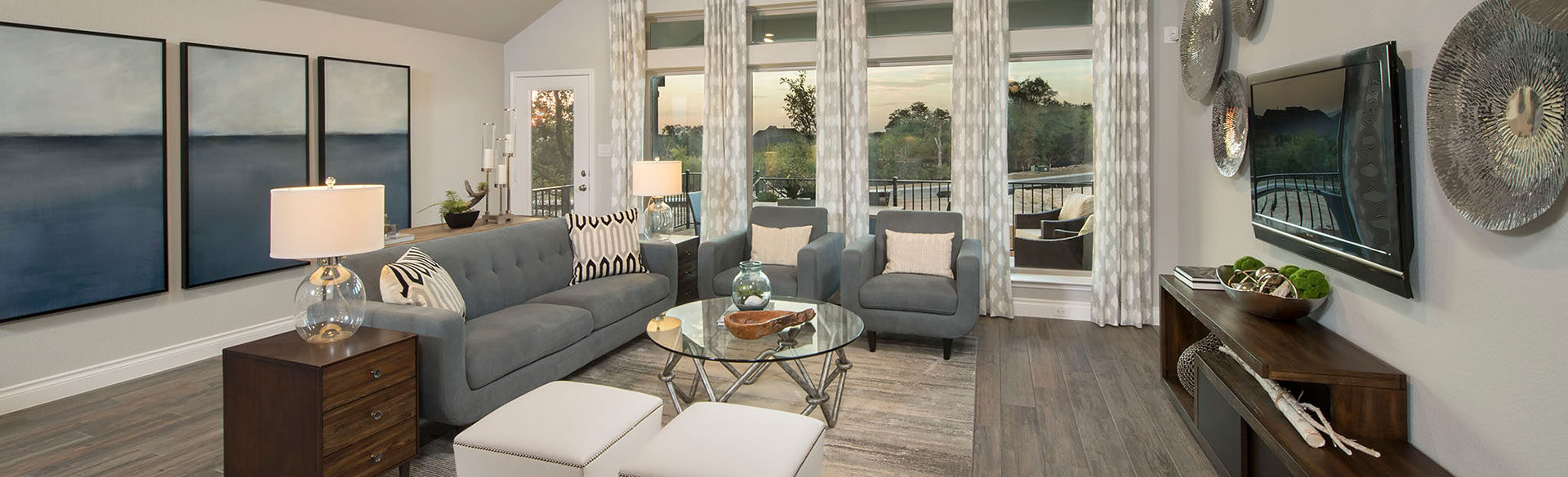 Rancho Sienna Perry Homes Model Home Plan 2529S Living Room