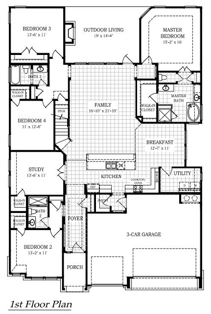 The Diego First Floor Plan
