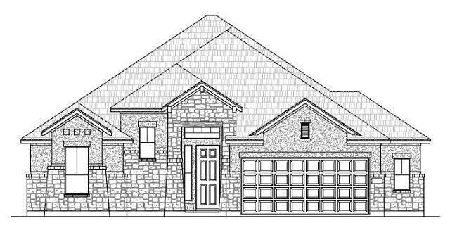Optional elevation of Chesmar Homes' one-story Preston