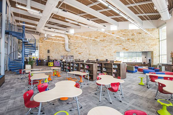 Library in Liberty Hill ISD School