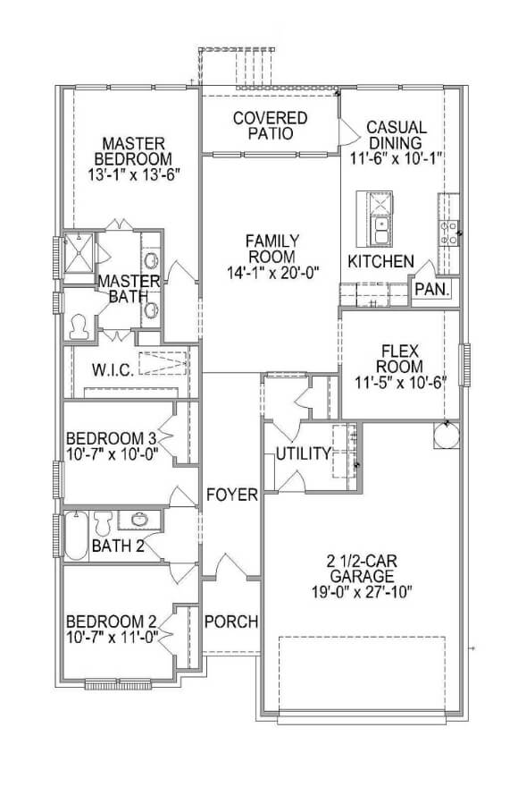 Plan 581F Floorplan