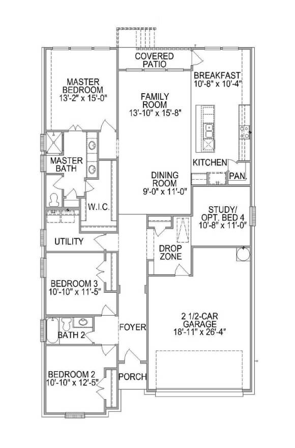 Plan 585F Floorplan
