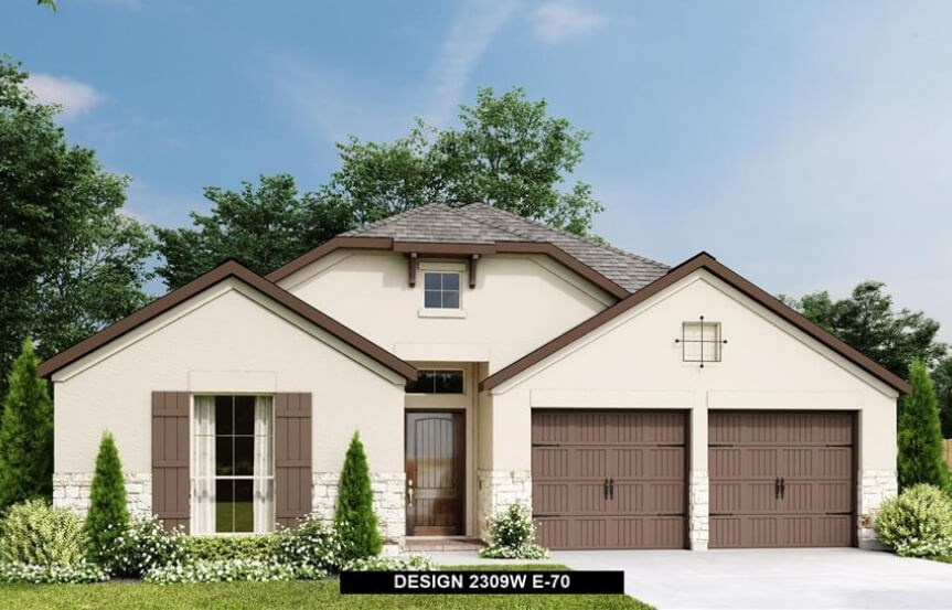 Rancho Sienna Perry  Homes Plan 2309 Elevation