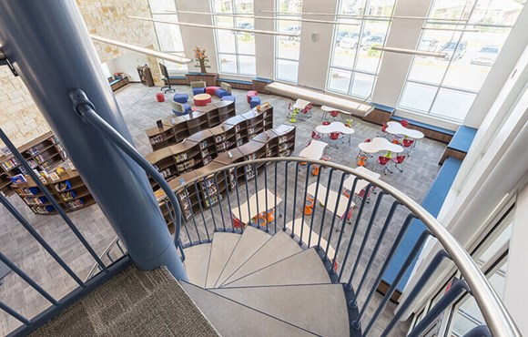 Rancho Sienna Elementary Library View from Staircase